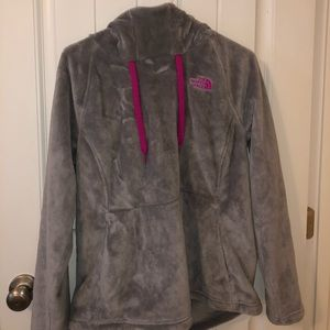 North Face gray hoodie